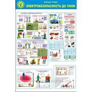 Стенд по охране труда «Электробезопасность до 1000В» фото