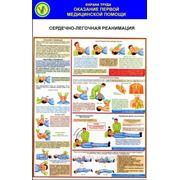 Стенд по охране труда «Оказание первой медицинской помощи. Сердечно-легочная реанимация» фото