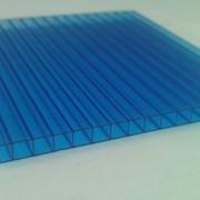 Поликарбонат сотовый 12000х2100х16 синий фото