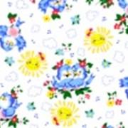 Ткань постельная Фланель 170 гр/м2 75 см Набивная/Детская 5014-1 цветной/S298 PTS фото