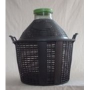 Бутыль-демиджон с широким горлышком и пластиковой крышкой, 34 литра фото
