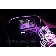 Подсветка салона автомобиля Холодным неом - Светящимся проводом - Светопроводом любого цвета тюнинг автомобиля фото