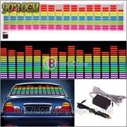 Светодиодная подсветка эквалайзер для автомобиля, цветомузыка для баров, кафе, дискотек фото