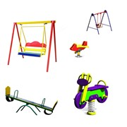 Установка детского игрового оборудования фото