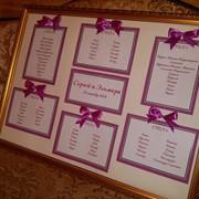 Оформление свадеб. План рассадки гостей фото