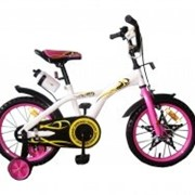 Велосипед двухколёсный 16K134 - White with Pink фото