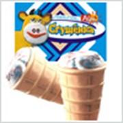 Мороженное пломбир со сгущенкой. фото