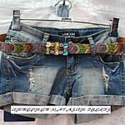 Женские джинсовые шорты с низкой посадкой фото