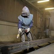 Пескоструйная обработка металлоконструкций, аренда фото