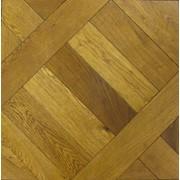 Полы дубовые Диагональный квадрат фото