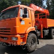 Бортовой автомобиль КамАЗ 43118 6х6 с КМУ Kanglim 1256 G-II фото