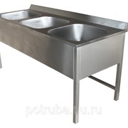 Ванна цельнотянутая приварная 330x330x160 AISI 304 фото