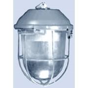 Светильник промышленный подвесной НСП 02-100-003 с решеткой. фото