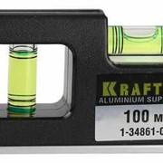 Уровень KRAFTOOL МИНИ с магнитом, 2 ампулы, 100мм. Артикул: 1-34861-010 фото