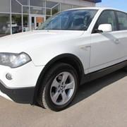 Автомобиль BMW X 3 белый металлик фото