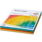 Бумага MAESTRO color А4, 80 г/м2, 250 л. (5 цв.x 50 л.), цветная, интенсивная