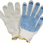 Перчатки рабочие ХБ с покрытием ПВХ фото