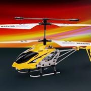 Модели вертолетов радиоуправляемые, Микровертолеты, Вертолёт с 3-х канальным и/к управлением, светом и гироскопом ( 22 см.) фото