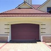 Ворота секционные серии RSD-01 SC №2 коричневый ширина 2500 высота 2235 фото