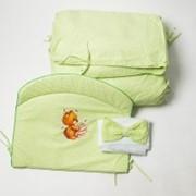 """Набор в кроватку """"Травушка"""" зеленый фото"""