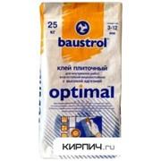 Клей плиточный влагостойкий с повышенной адгезией Optimal Baustrol 25 кг фото