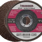 ТРИГГЕР 70358 Диск лепестковый по металлу 125х22мм P60 (10/200) фото