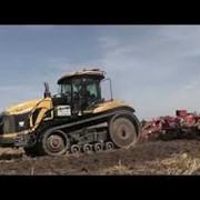 Обработка сельхозземель: Caterpillar MT865+Gregoire Besson 7.2 с катками.