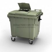 Контейнер для мусора 1100 литров с опцией крышка в крышке фото