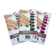 Наклейки для ногтей в комплекте из трех дизайнов с пилочкой для ногтей beautycycle