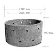 ЖБИ-кольцо КС 20-9 перфорированное фото
