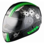 IXS Шлем HX 1000 SHOOT чёрно-зелёный фото