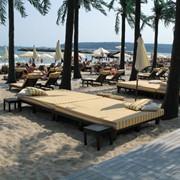 Пляжная кровать Деревянные шезлонги и кровати фото