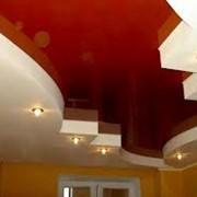 Потолки натяжные двухуровневые фото