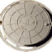 Люк чугунный В125, тип-С, круглый с запорным устро фото