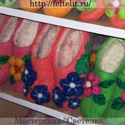 Войлочные женские тапочки фото