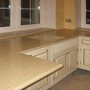Столешницы для кухни из искусственного камня. фото