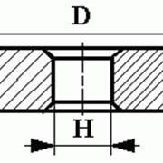 Круги алмазные шлифовальные плоские с двусторонним коническим профилем на органической связке формы 14ЕЕ1 фото