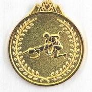 Медаль рельефная Борьба золото фото