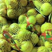 Фасовка овощей и фруктов в сетку-клипса фото