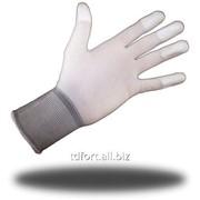 Перчатки нейлоновые с полиуретаном, частично покрытые, арт. 217 фото