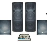 Комплект звукового оборудования 4 кВт ( Аренда сутки) фото