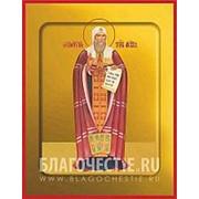 Храм Покрова Богородицы Гермоген (Ермоген), святой патриарх, священномученик, икона на сусальном золоте (гладкий МДФ 6 мм без ковчега) Высота иконы 10 фото