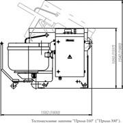Тестомесильная машина с подкатной дежой Прима-300 фото