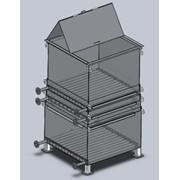 Контейнеры, Компактный вертикальный модуль плавления битума. фото