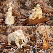 Миниатюры из рога лося и бивня мамонта фото