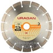 Круг отрезной алмазный Uragan сегментный, для УШМ, 230х22,2мм Код: 909-12111-230 фото