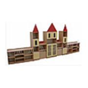 Стеллаж для пособий и игрушек Замок № 1 с двумя дополнительными фото