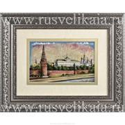Картина перламутровая Вид на Большой Кремлевский дворец фото