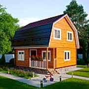 Дом из профилированного бруса по проекту Д-4 фото