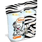 Туалетная бумага Зебра 4 рулона фото